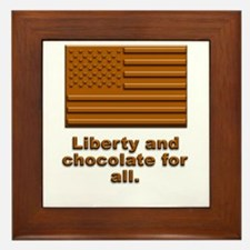 Liberty & Chocolate Framed Tile