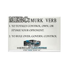 Merc: Definition Grey Camo (Back) Rectangle Magnet