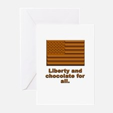 Liberty & Chocolate Greeting Cards (Pk of 10)