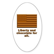 Liberty & Chocolate Oval Decal