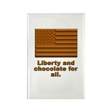 Liberty & Chocolate Rectangle Magnet