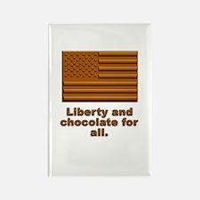 Liberty & Chocolate Rectangle Magnet