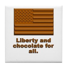 Liberty & Chocolate Tile Coaster