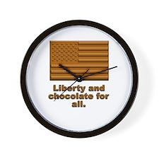 Liberty & Chocolate Wall Clock