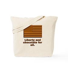 Liberty & Chocolate Tote Bag