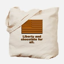 Liberty & Chocolate Tote Bag