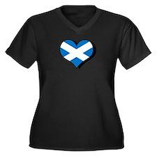 I Love Scotland Women's Plus Size V-Neck Dark T-Sh