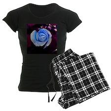blue rose colorized design Pajamas