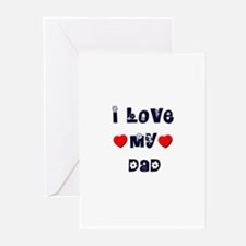 I Love MY DAD Greeting Cards (Pk of 10)