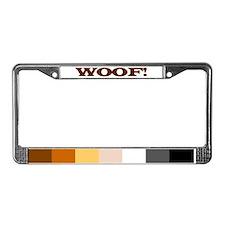 Cute Woof License Plate Frame