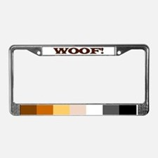 Cute Gay bear pride License Plate Frame