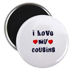 "I Love MY COUSINS 2.25"" Magnet (10 pack)"