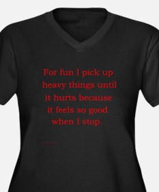 For fun I pick up heavy Women's Plus Size V-Neck D