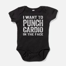 Punch Cardio In The Face Baby Bodysuit