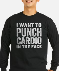 Punch Cardio In The Face Long Sleeve T-Shirt