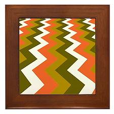Fast Lane Earthy Jags Framed Tile