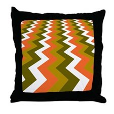 Fast Lane Earthy Jags Throw Pillow