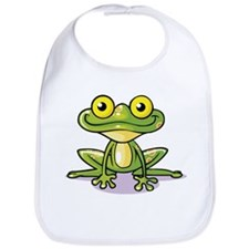 Cute Green Frog Bib