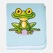 Cute Green Frog baby blanket