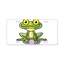 Cute Green Frog Aluminum License Plate