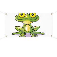 Cute Green Frog Banner