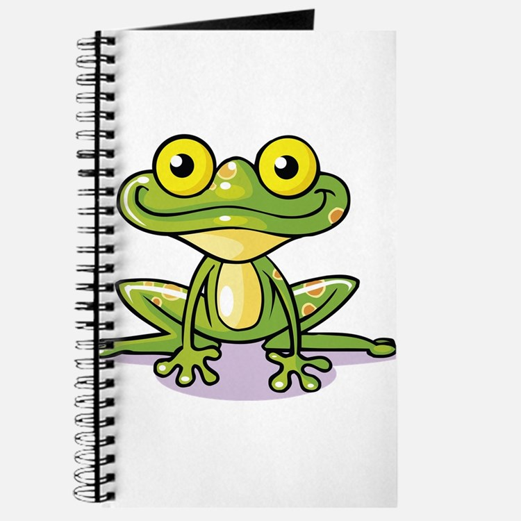 Cute Green Frog Journal