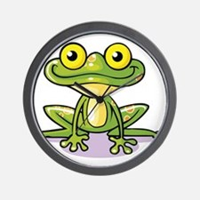 Cute Green Frog Wall Clock