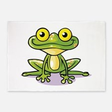 Cute Green Frog 5'x7'Area Rug
