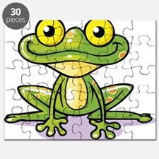 Cute Green Frog Puzzle