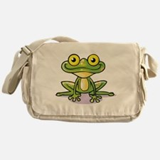 Cute Green Frog Messenger Bag