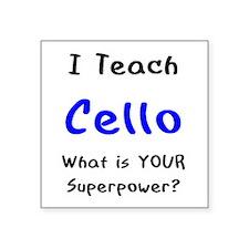 """teach cello Square Sticker 3"""" x 3"""""""