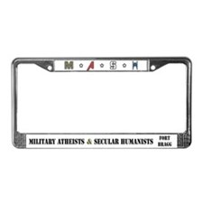 Mash Ft. Bragg Logo License Plate Frame