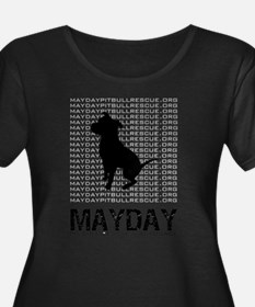 Mayday Black Dog Logo Plus Size T-Shirt