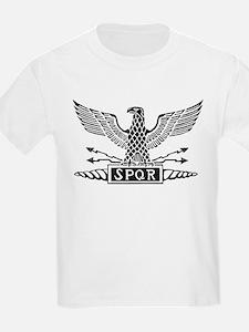 Roman Eagle 2 Basic Blk T-Shirt