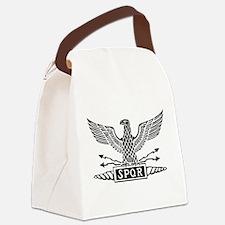 Roman Eagle 2 Basic Blk Canvas Lunch Bag