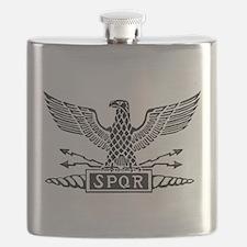 Roman Eagle 2 Basic Blk Flask