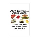 Eating Habits Rectangle Sticker