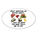 Eating Habits Oval Sticker