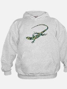 Mosaic Polygon Green Lizard Hoodie