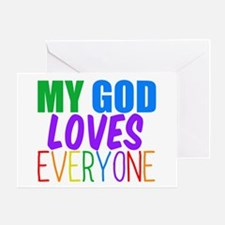 My God Loves Greeting Card
