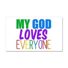 My God Loves Car Magnet 20 x 12