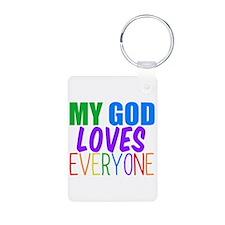 My God Loves Keychains