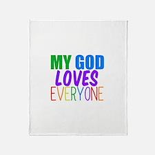 My God Loves Throw Blanket