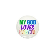 My God Loves Mini Button (10 pack)