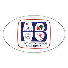 Huntington Beach California Oval Decal