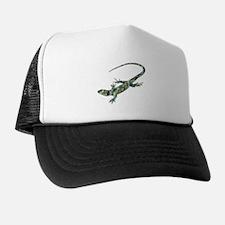 Mosaic Polygon Green Lizard Trucker Hat
