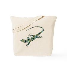 Mosaic Polygon Green Lizard Tote Bag