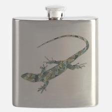 Mosaic Polygon Green Lizard Flask
