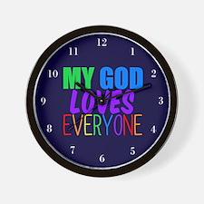 My God Loves Wall Clock