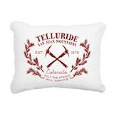 Snowboarding Rectangle Canvas Pillows